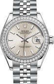 Rolex Datejust Ladies 79384rbr-0007 Steel and White Gold