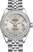 Rolex Datejust Ladies 279384rbr-0009 Steel and White Gold