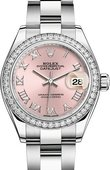 Rolex Datejust Ladies 279384rbr-0006 Steel and White Gold