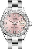 Rolex Datejust Ladies 279384rbr-0004 Steel and White Gold