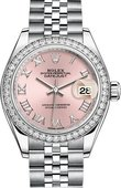 Rolex Datejust Ladies 279384rbr-0005 Steel and White Gold