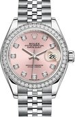 Rolex Datejust Ladies 279384rbr-0003 Steel and White Gold