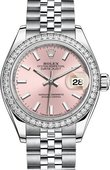 Rolex Datejust Ladies 279384rbr-0001 Steel and White Gold