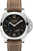 Officine Panerai Luminor PAM 01537 3 Days GMT Power Reserve Automatic Acciaio