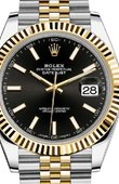 Rolex Datejust 126333 Black Jubilee Bracelet Yellow Rolesor New 2016