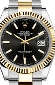 Rolex Datejust 126333 Black Oyster Bracelet Yellow Rolesor New 2016