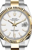 Rolex Datejust 126333 White Oyster Bracelet Yellow Rolesor New 2016