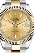 Rolex Datejust 126333 Champagne Oyster Bracelet Yellow Rolesor New 2016