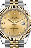 Rolex Datejust 126333 Champagne set with diamonds Jubilee Bracele Yellow Rolesor