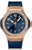 Hublot Big Bang 38mm Ladies 361.PX.7180.LR.1204 Gold Blue Diamonds 38 mm