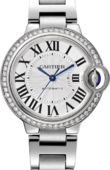 Cartier Ballon Bleu de Cartier W4BB0016 Steel Diamonds