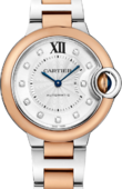 Cartier Ballon Bleu de Cartier W3BB0006 Pink Gold And Steel Diamonds
