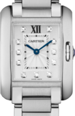 Cartier Tank W4TA0003 Anglaise Small Model Steel Diamonds