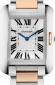 Cartier Tank W5310043 Anglaise Medium Model Pink Gold Steel
