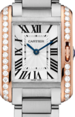 Cartier Tank W3TA0002 Anglaise Small Pink Gold Steel Diamonds