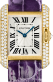 Cartier Tank WT100014 Anglaise Yellow Gold Diamonds