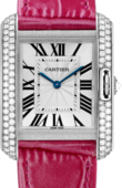 Cartier Tank WT100030 Anglaise Medium White Gold Diamonds