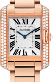 Cartier Tank WT100027 Anglaise Medium Pink Gold Diamonds