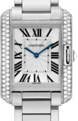 Cartier Tank WT100028 Anglaise Medium White Gold Diamonds