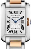 Cartier Tank W5310036 Anglaise Small Model Pink Gold Steel