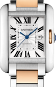 Cartier Tank W5310037 Anglaise Large Model Pink Gold Steel