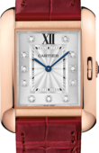 Cartier Tank WJTA0009 Anglaise Medium Pink Gold Diamonds