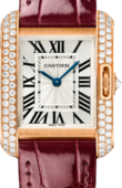 Cartier Tank WT100013 Anglaise Small Pink Gold Diamonds
