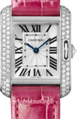 Cartier Tank WT100015 Anglaise Small White Gold Diamonds