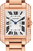 Cartier Tank WT100002 Anglaise Small Model Pink Gold Diamonds