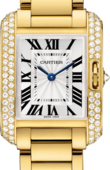 Cartier Tank WT100005 Anglaise Small Model Yellow Gold Diamonds