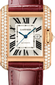 Cartier Tank WT100016 Anglaise Large Model Pink Gold Diamonds