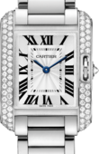 Cartier Tank WT100008 Anglaise Small Model White Gold Diamonds