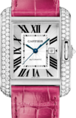 Cartier Tank WT100018 Anglaise Large White Gold Diamonds