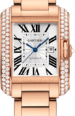 Cartier Tank WT100003 Anglaise Large Model Pink Gold Diamonds