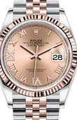 Rolex Datejust 126231 Rose set with diamonds Everose Rolesor Fluted Bezel Jubilee Bracelet