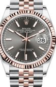 Rolex Datejust 126231 Dark rhodium Chromalight Jubilee Everose Rolesor Fluted Bezel Jubilee Bracelet
