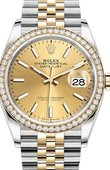 Rolex Datejust 126283rbr-0001 36mm Steel and Yellow Gold