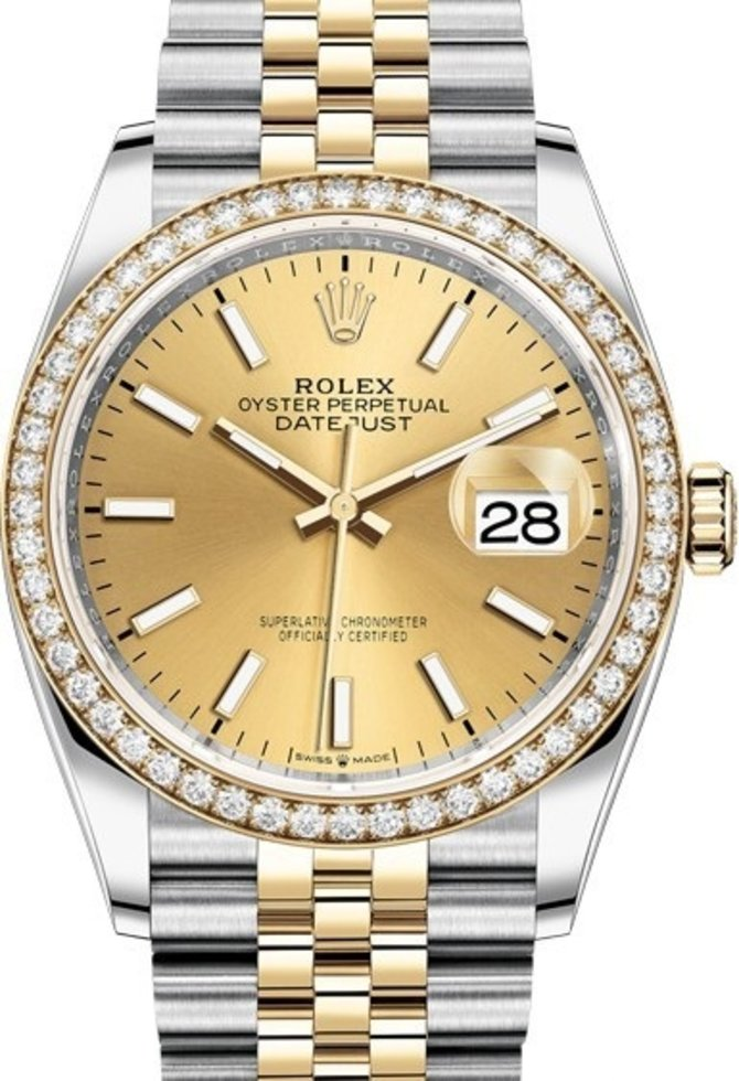 Rolex 126283rbr-0001 Datejust 36mm Steel and Yellow Gold