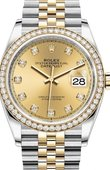 Rolex Datejust 126283rbr-0003 36mm Steel and Yellow Gold