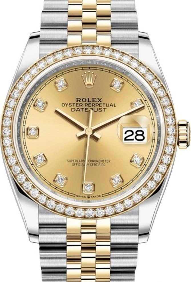 Rolex 126283rbr-0003 Datejust 36mm Steel and Yellow Gold