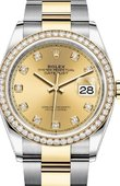 Rolex Datejust 126283rbr-0004 36mm Steel and Yellow Gold