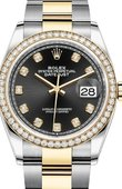 Rolex Datejust 126283rbr-0008 36mm Steel and Yellow Gold
