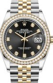 Rolex Datejust 126283rbr-0007 36mm Steel and Yellow Gold
