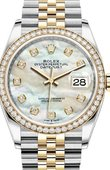 Rolex Datejust 126283rbr-0009 36mm Steel and Yellow Gold