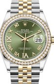 Rolex Datejust 126283rbr-0011 36mm Steel and Yellow Gold