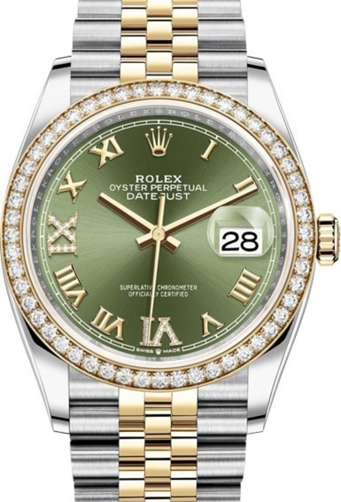 126283rbr-0011 Rolex 36mm Steel and Yellow Gold Datejust