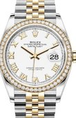 Rolex Datejust 126283rbr-0015 36mm Steel and Yellow Gold