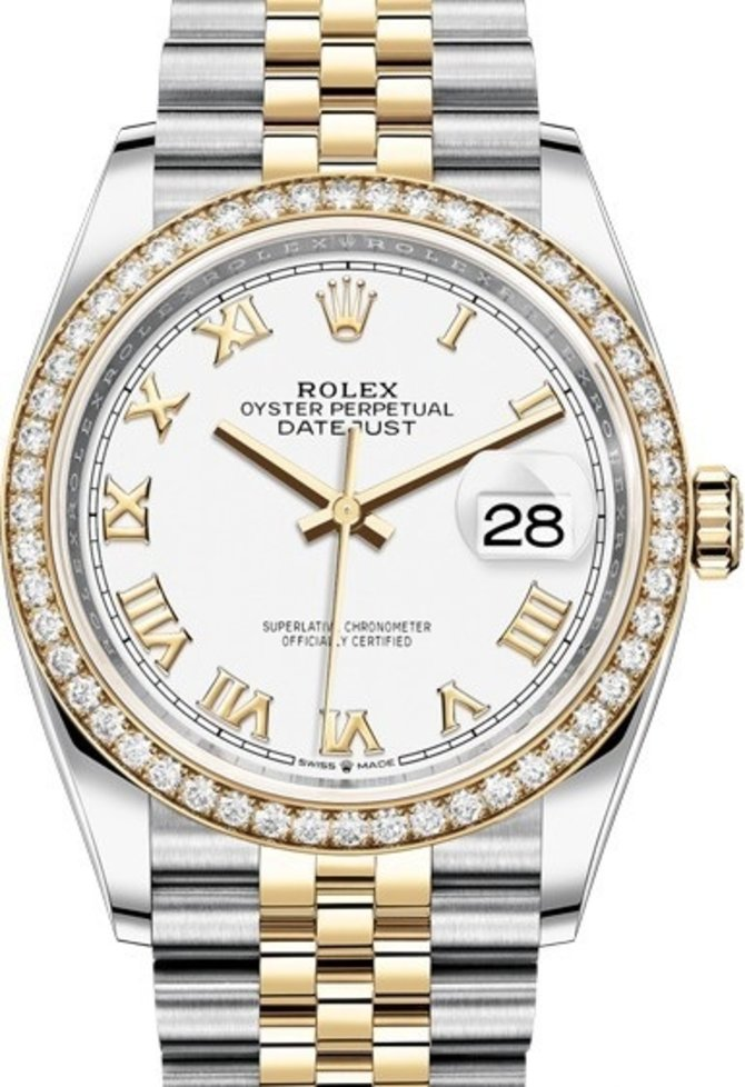 Rolex 126283rbr-0015 Datejust 36mm Steel and Yellow Gold