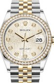 Rolex Datejust 126283rbr-0013 36mm Steel and Yellow Gold
