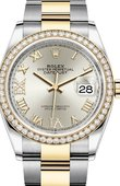 Rolex Datejust 126283rbr-0018 36mm Steel and Yellow Gold